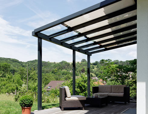 Superb Patio Canopy / Glass / Aluminum   TD 2