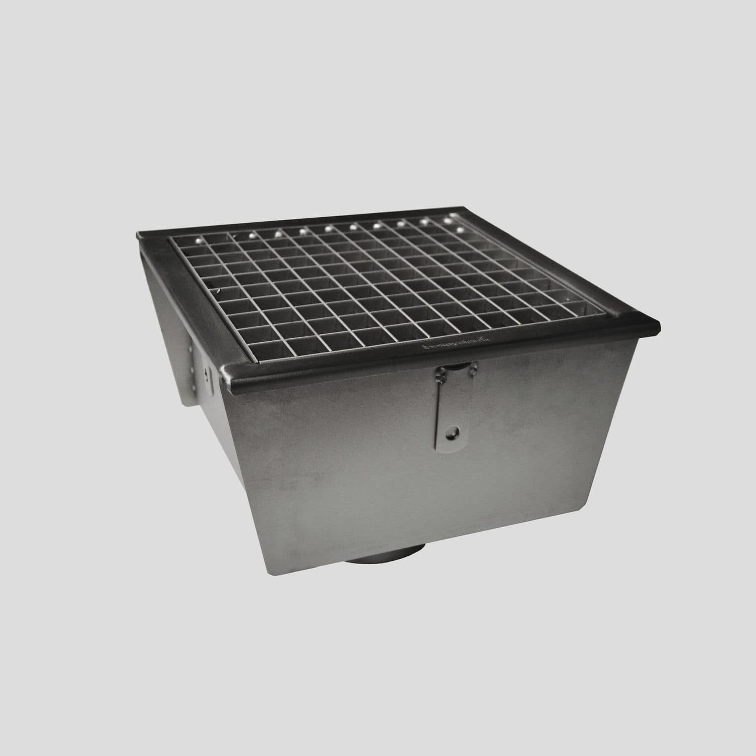 Stainless Steel Floor Drain / Square / Patio / Grated   0501