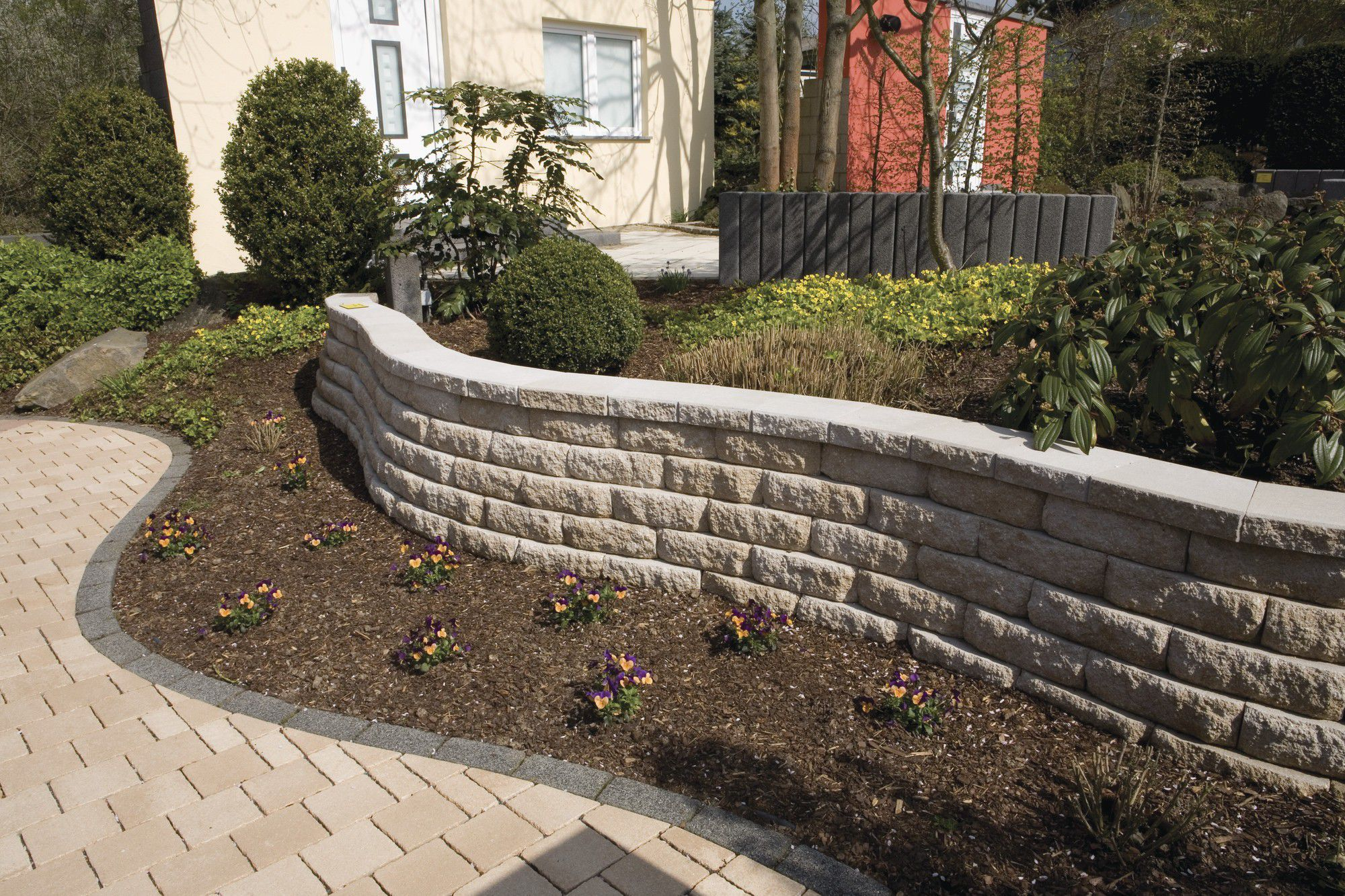 Stone retaining wall modular for garden enclosures WINDSOR
