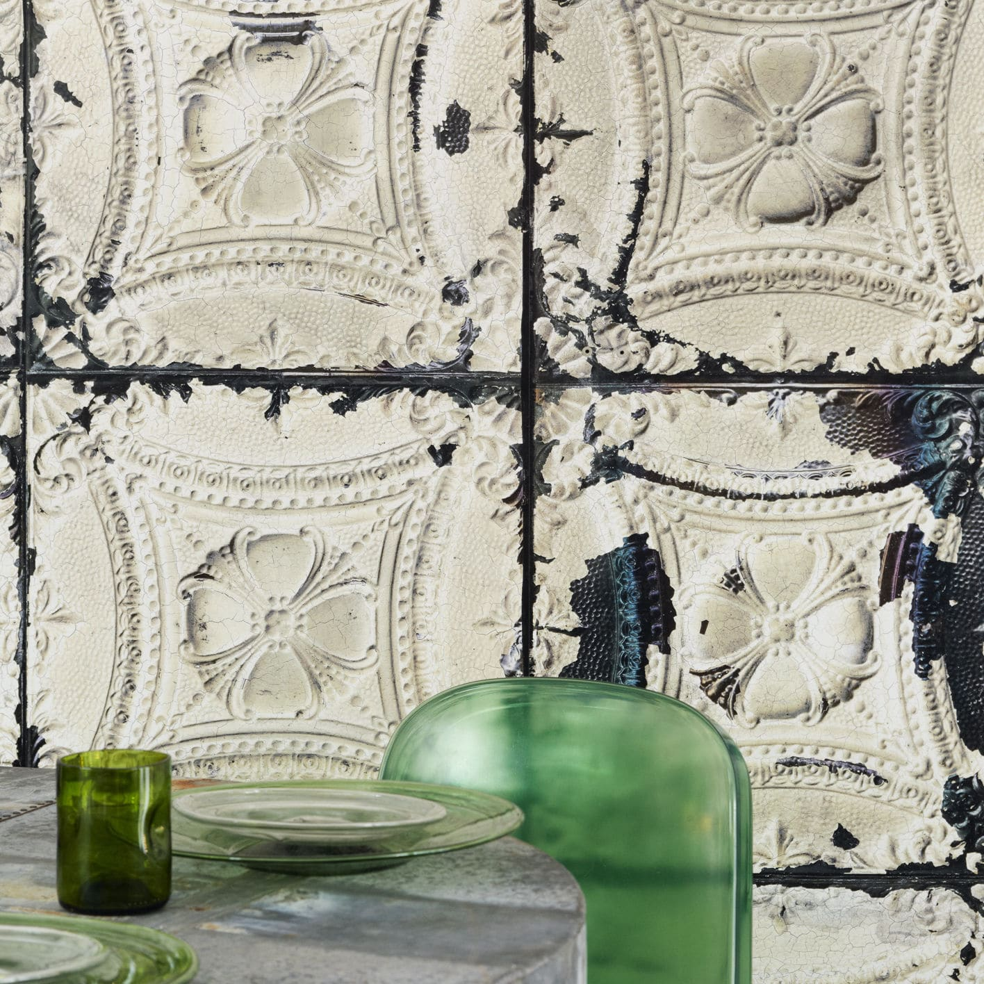 classic wallpaper vintage rustic patterned tin 01 by merci