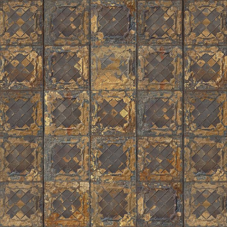 classic wallpaper vintage rustic patterned tin 08 by merci