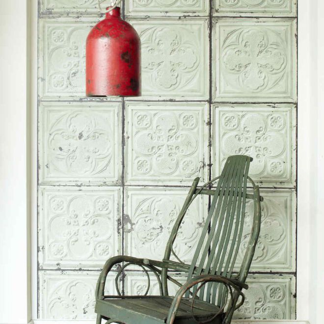 classic wallpaper vintage rustic patterned tin 05 by merci