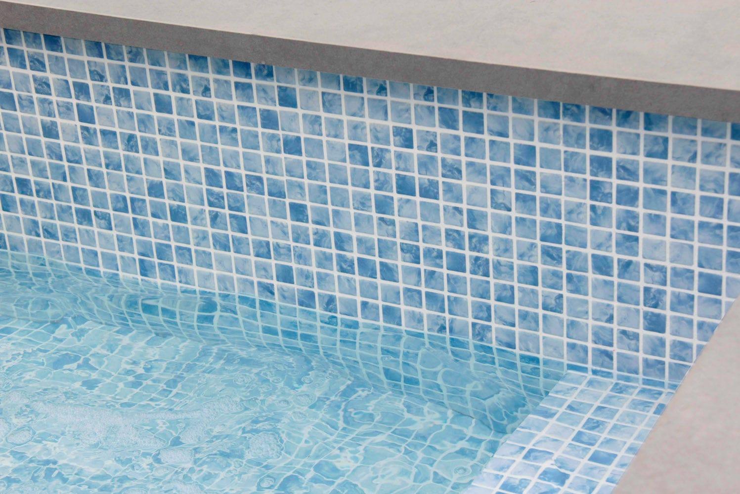 Pool mosaic tile / floor / glass / high-gloss - SAONA - Mosavit