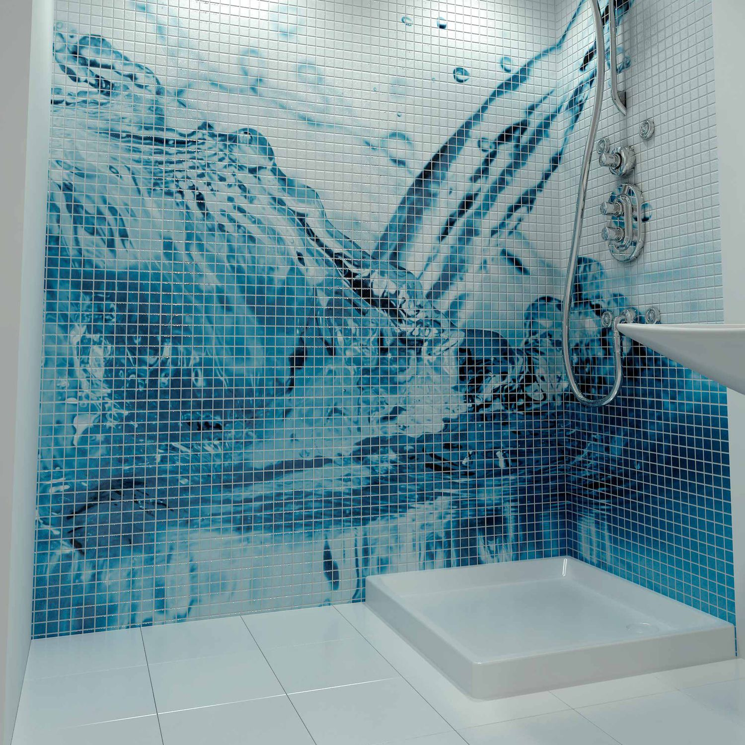 Bathroom mosaic tile / pool / wall / glass - HIGH DEFINITION - Mosavit