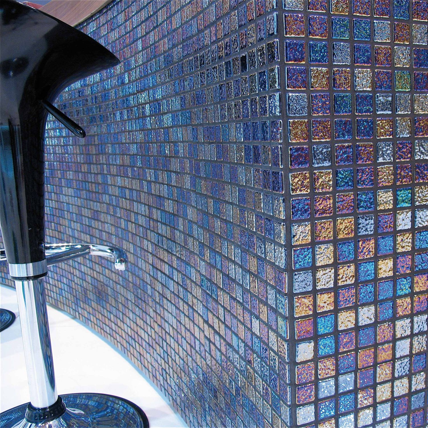 Bathroom mosaic tile / wall / glass / stone look - ROCK - Mosavit