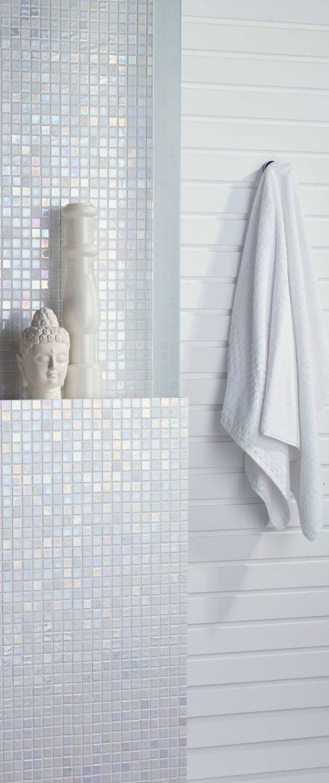 Bathroom mosaic tile / wall / glass / white - SUNDANCE - Mosavit
