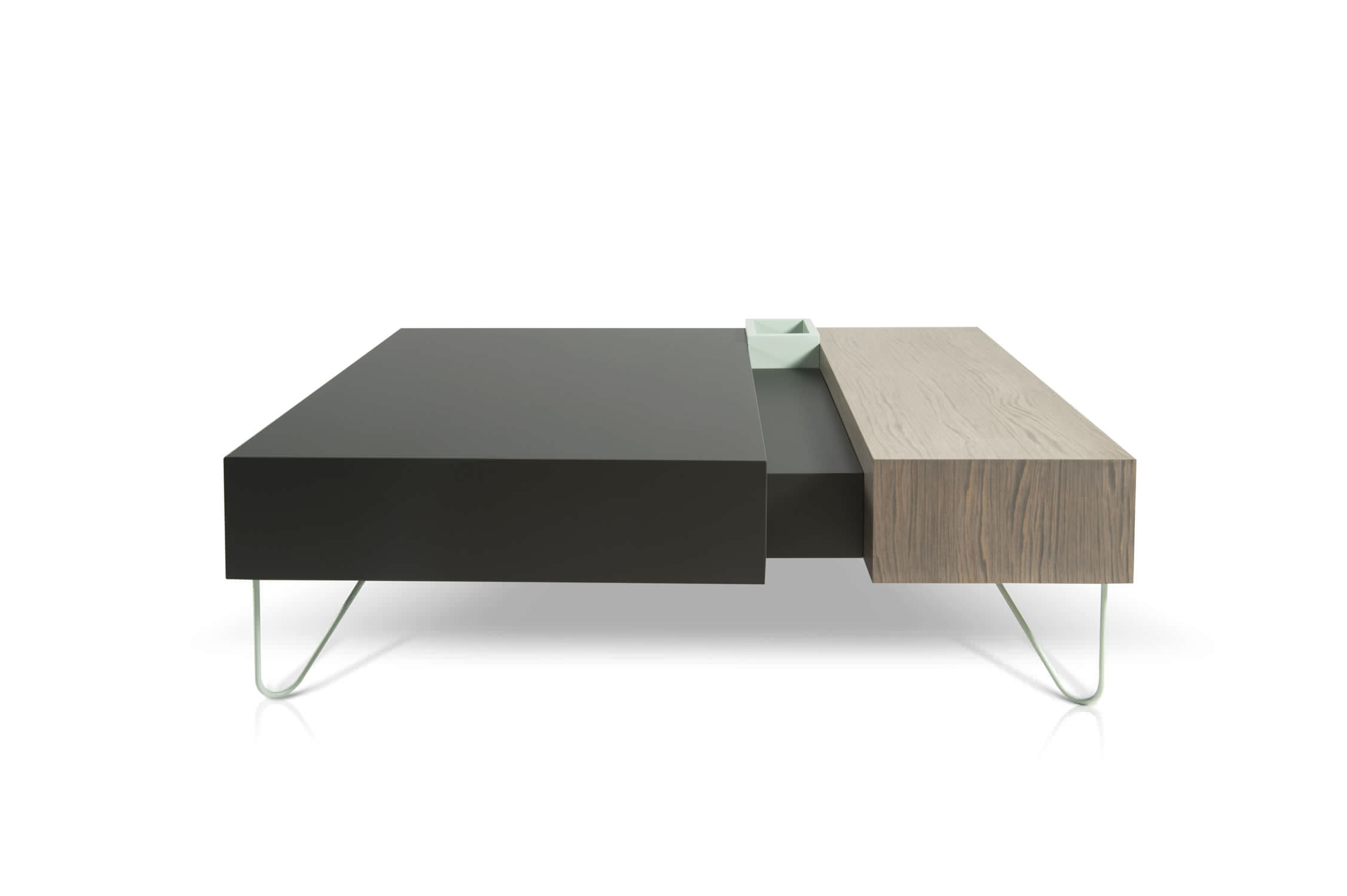 Contemporary coffee table wooden square VINTME 008 al2