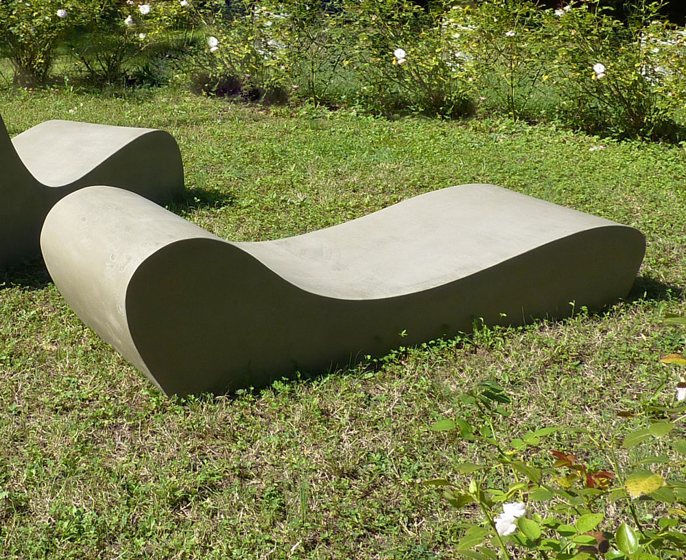 Organic Design Sun Lounger / Cement / Garden / Patio LAND.5 LOVECEMENT ...