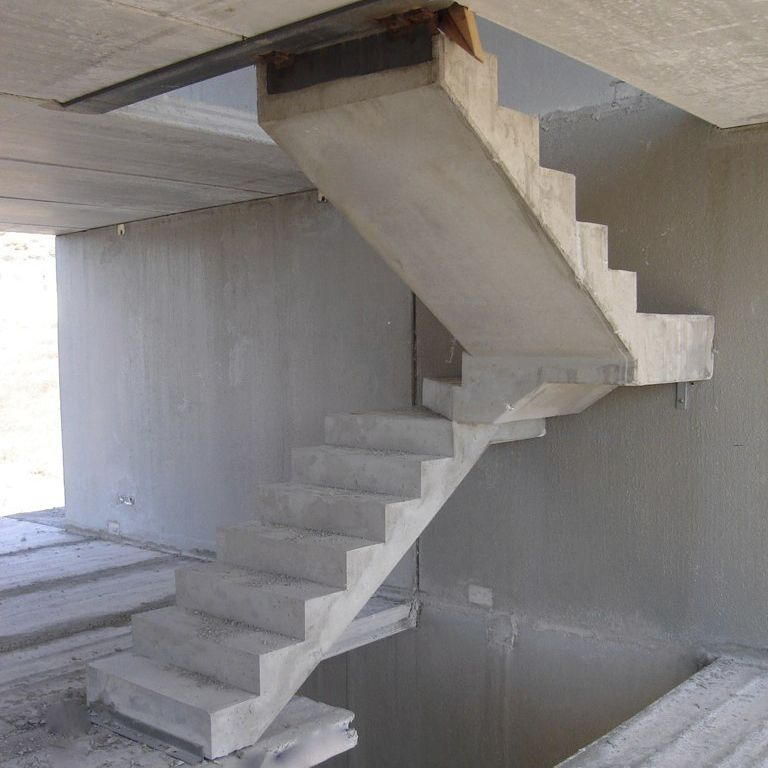 Straight Staircase / Quarter Turn / Concrete Frame / Concrete Steps ...