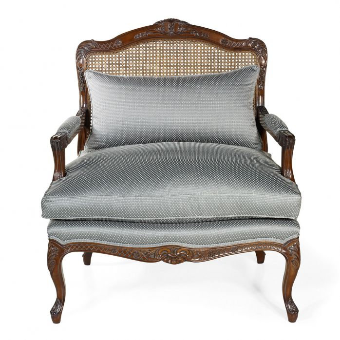 French Style Armchair / Fabric / Leather / Oak   RODIN : De Style Louis XV