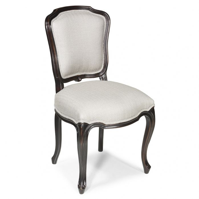 Superb French Style Dining Chair / Upholstered / Fabric / Leather   EGERTON : De  Style Louis XV