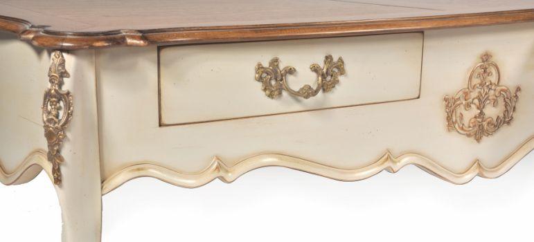 Beau French Style Coffee Table / Oak / Mahogany / Glass ...