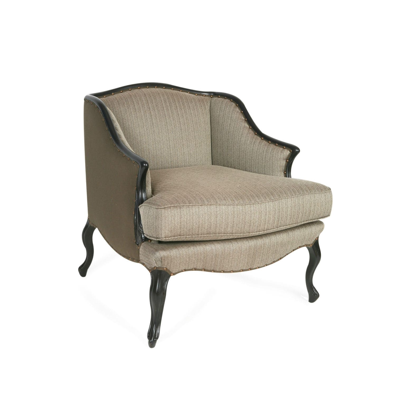 French Style Armchair / Fabric / Leather / Oak   MILANO MARQUISE : De Style  Louis XV