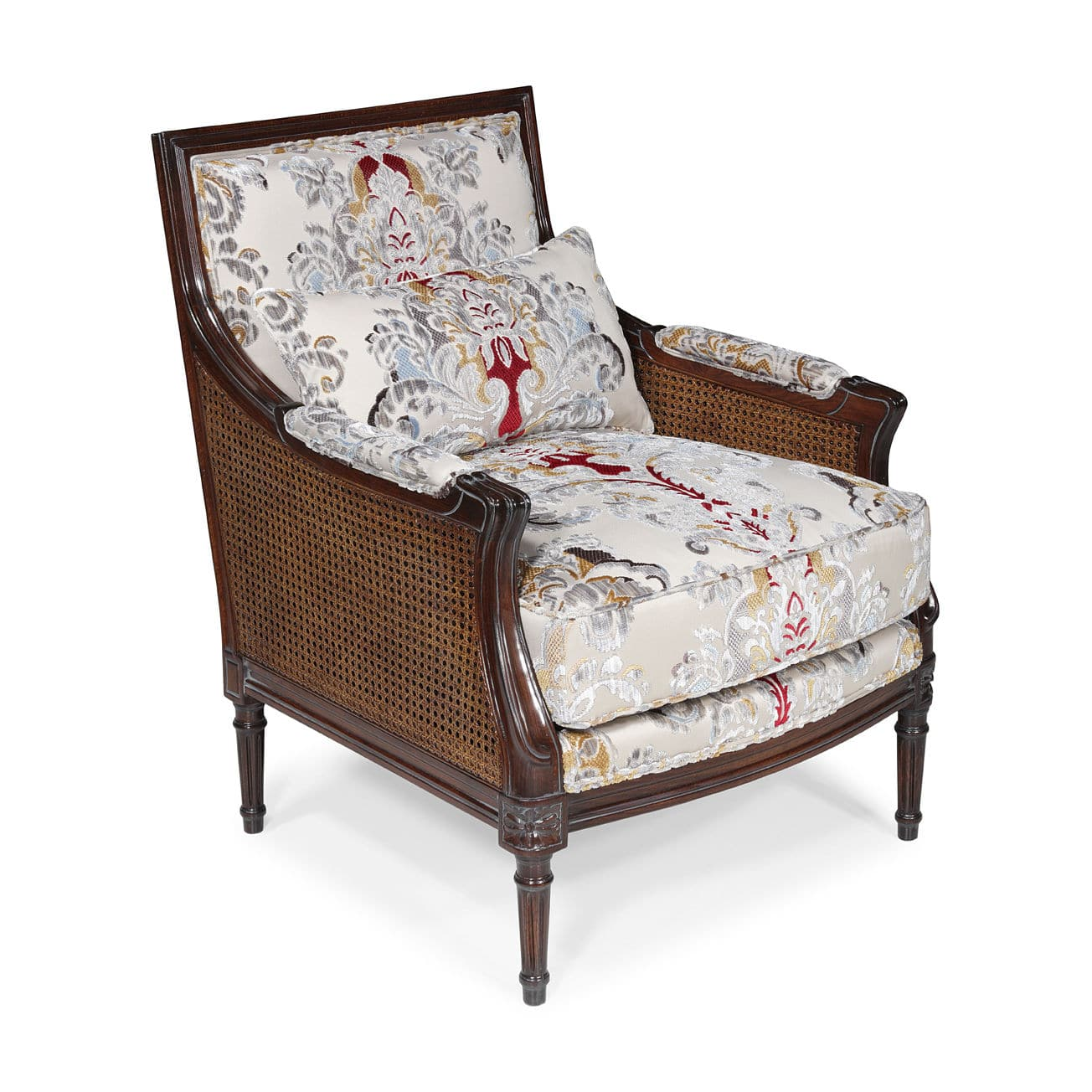 French Style Armchair / Fabric / Leather / Oak   MALTA