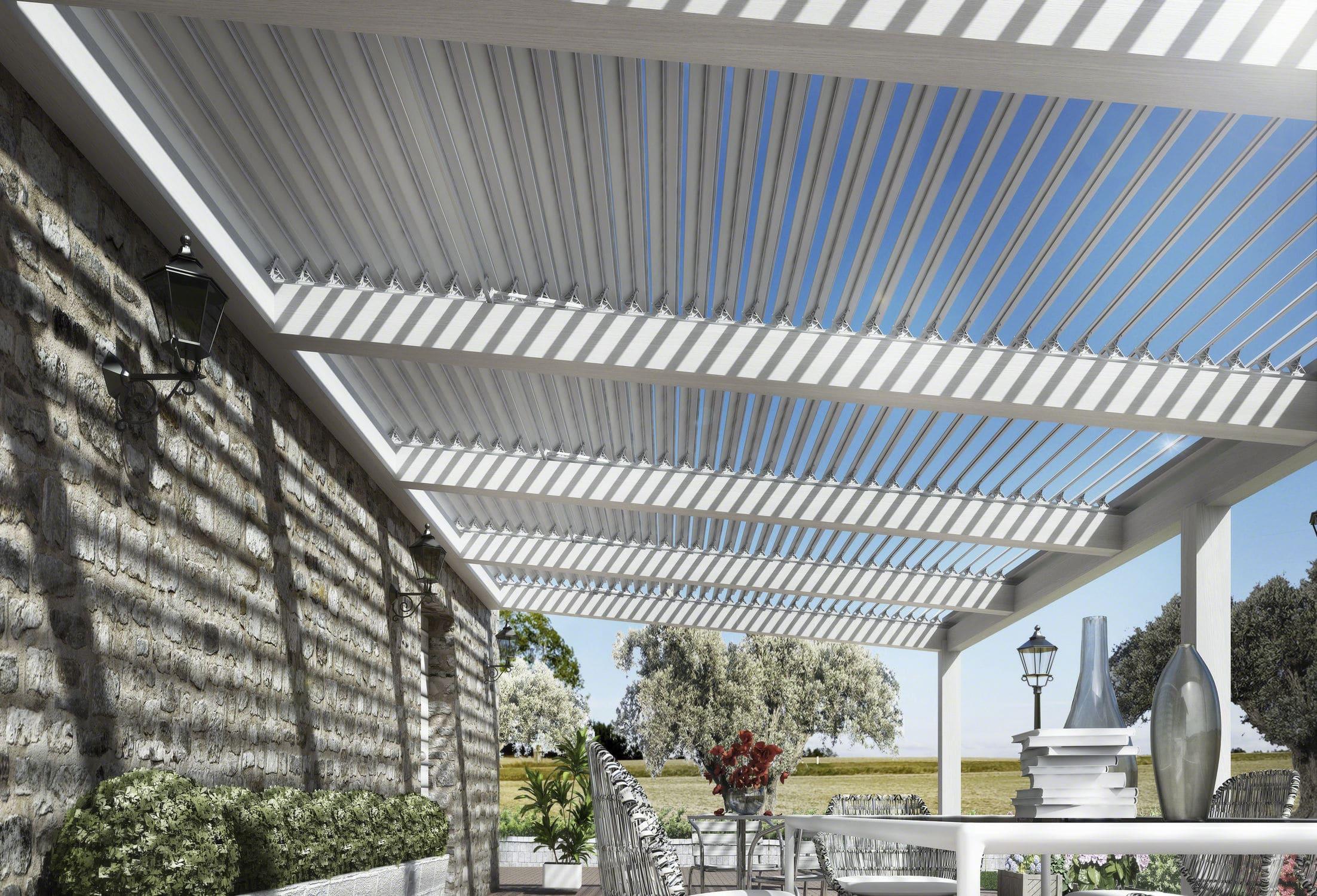 Superieur Hanging Pergola / Aluminum / With Mobile Slats / Sun Shade Louvers ...