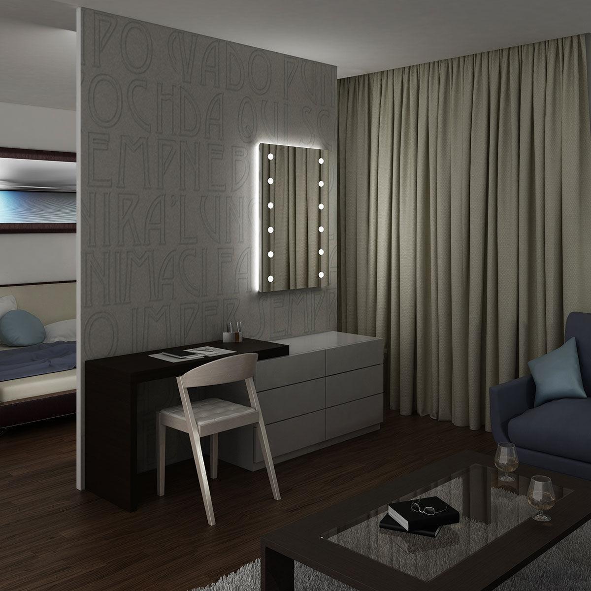 Superior Wall Mounted Mirror / Illuminated / Living Room / Bedroom   MH03