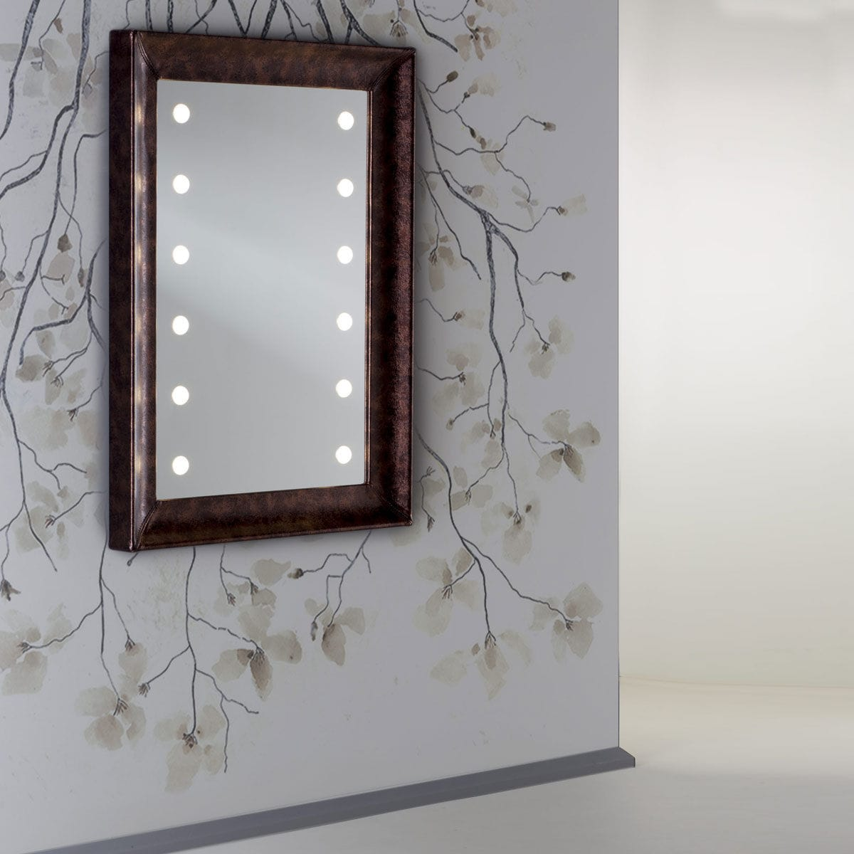 Wall-mounted mirror / illuminated / living room / bedroom - MF 365A ...