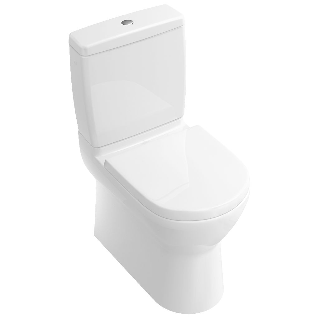 Free standing WC   monobloc   porcelain   with flush button   O NOVO 565810. Free standing WC   monobloc   porcelain   with flush button   O