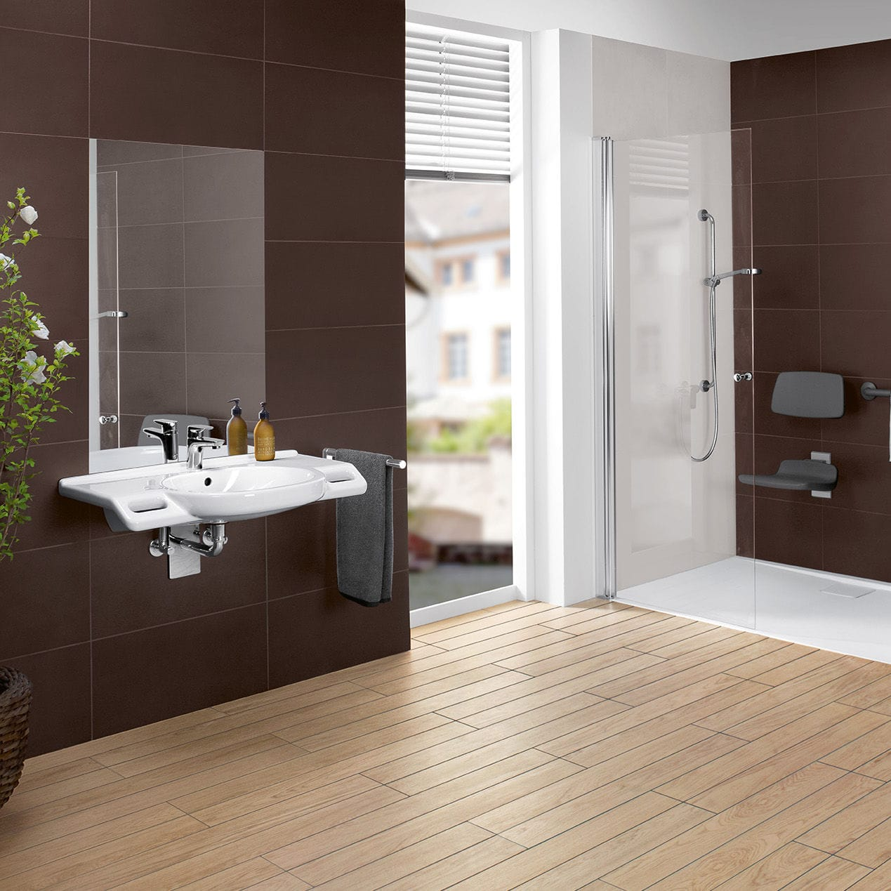 Contemporary bathroom / ceramic / for hospitals / handicapped - O ...