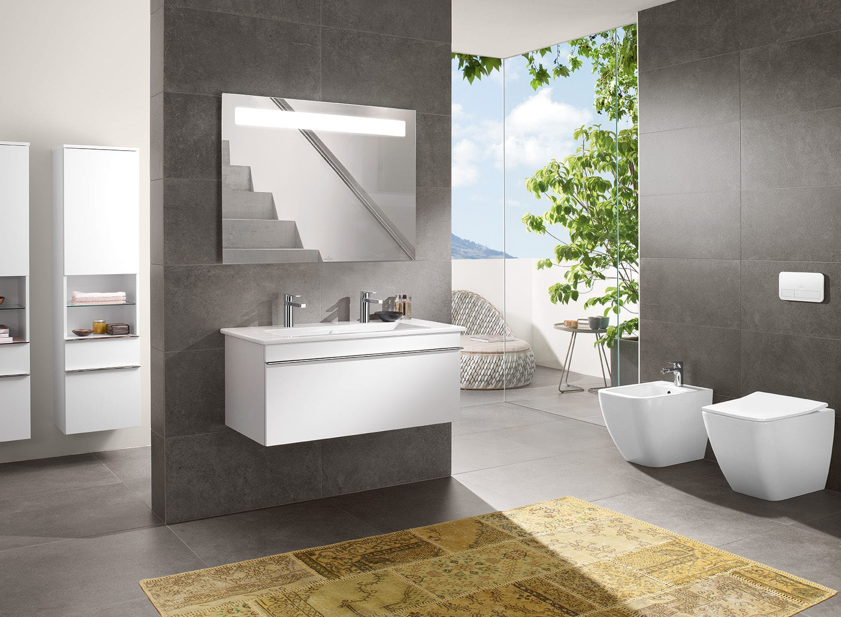 contemporary bathroom ceramic venticello - Villeroy And Boch Bathroom Cabinets