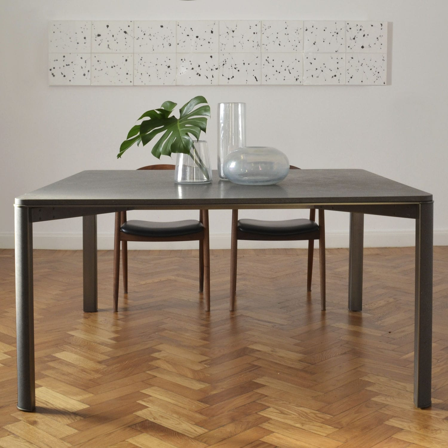 Contemporary stone dining table -  Contemporary Dining Table Marble Natural Stone Basalt Gregorio By Monica Geronimi Mg12