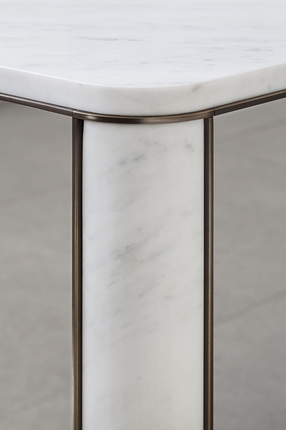 Contemporary stone dining table -  Contemporary Dining Table Marble Natural Stone Brass Gregorio Mg12