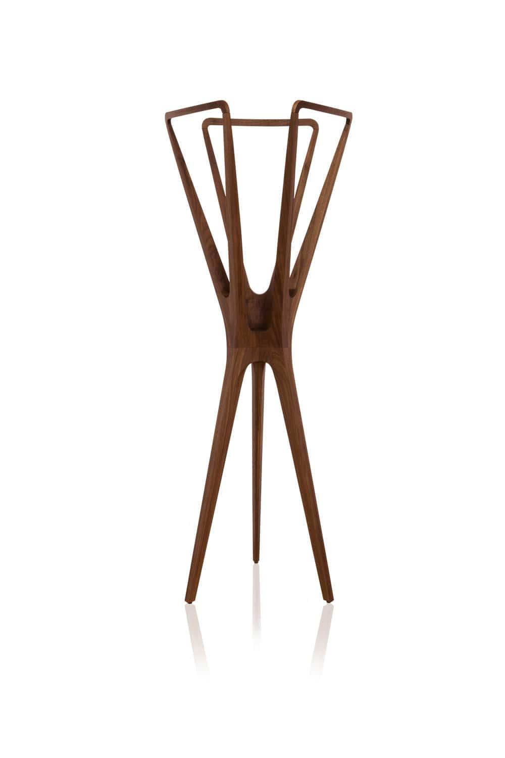 Floor Coat Rack Contemporary Wooden LOOSE By Jader Almeida - Designer coat rack