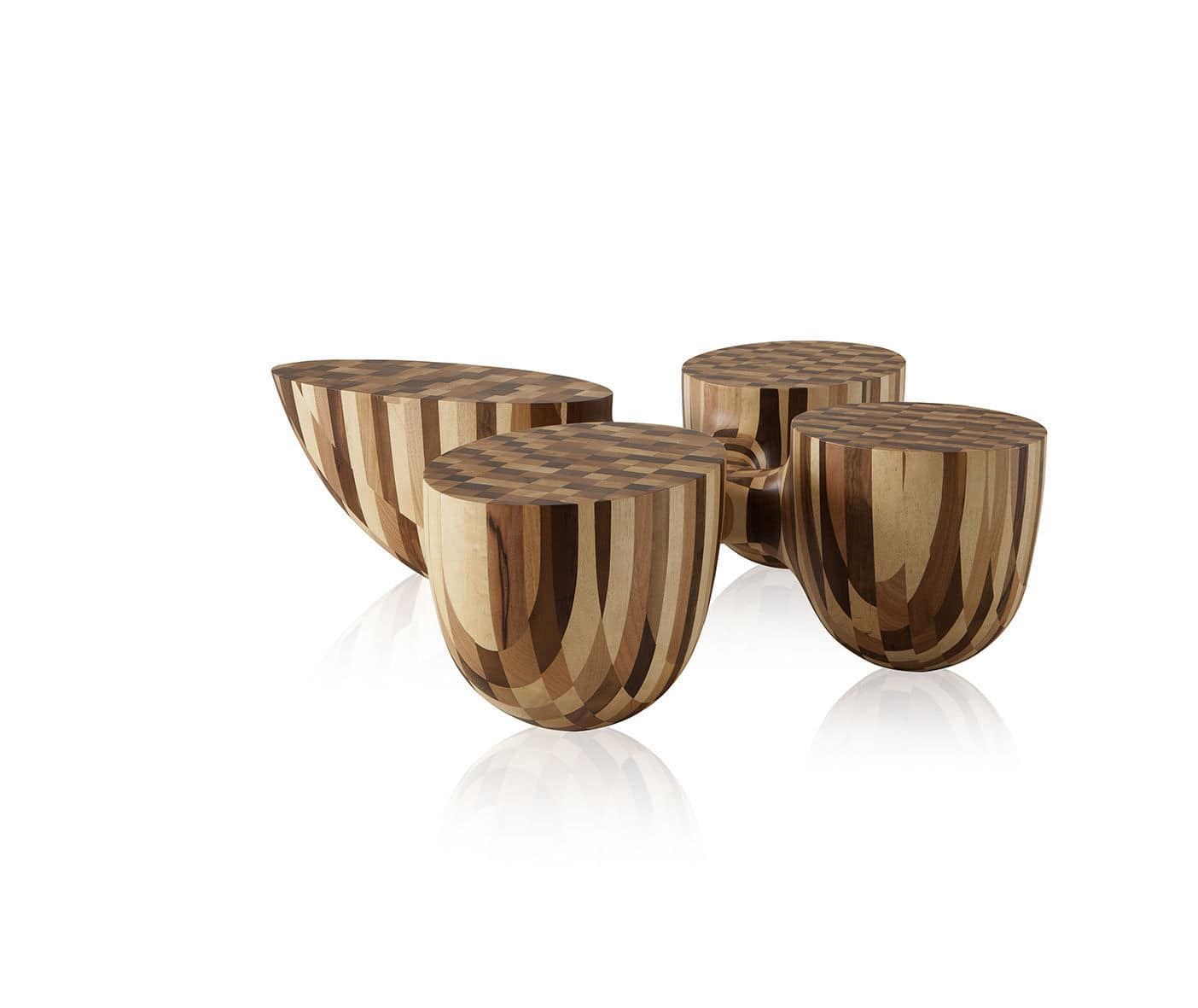 contemporary coffee table / solid wood / round - rootsjader