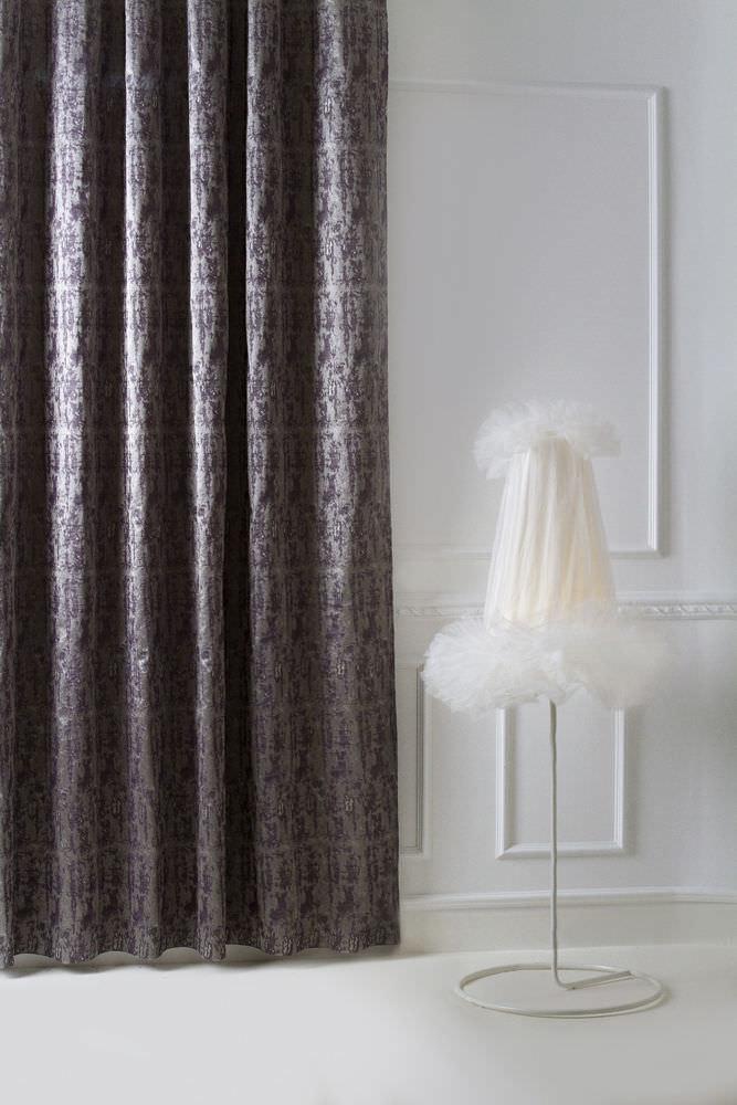 patterned sheer curtain fabric - verdemare: taormina - luciano marcato