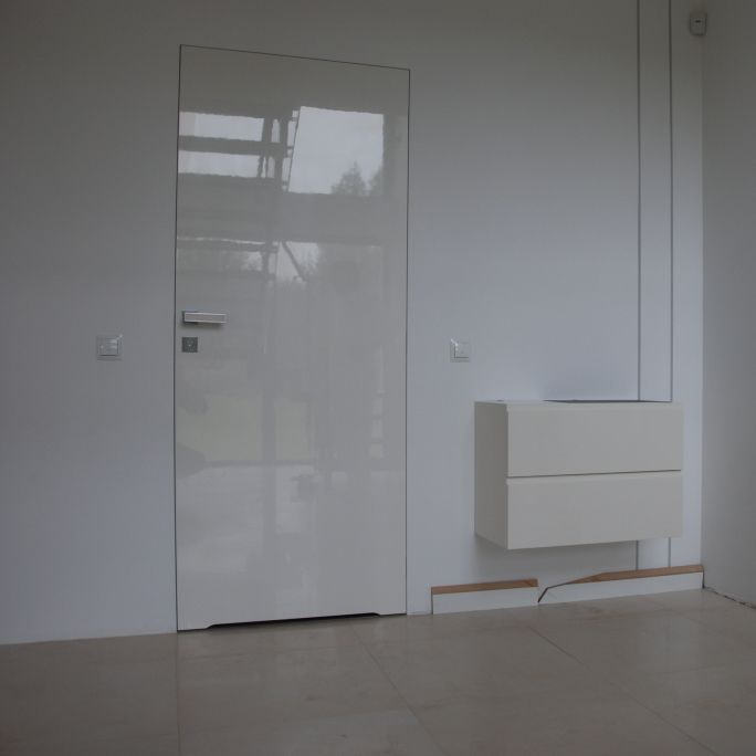 indoor door / swing / aluminum / flush - ACRYLIC & Indoor door / swing / aluminum / flush - ACRYLIC - zeromur