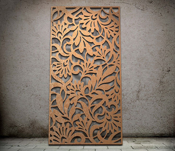 decorative metal panel for facades entwine - Decorative Metal Panels