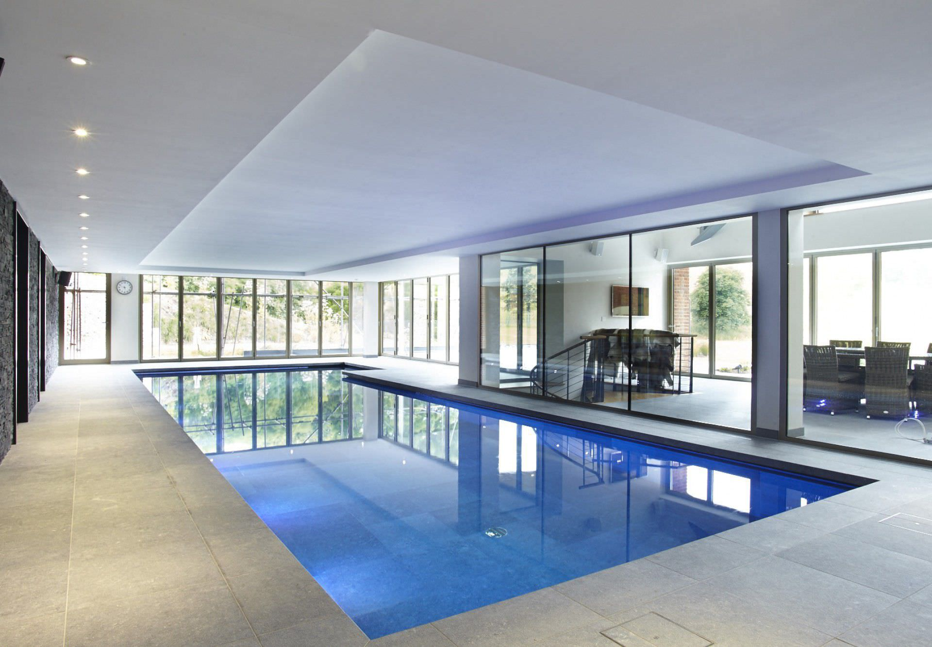 Private Indoor Swimming Pools in-ground swimming pool / ceramic / indoor - buckinghamshire