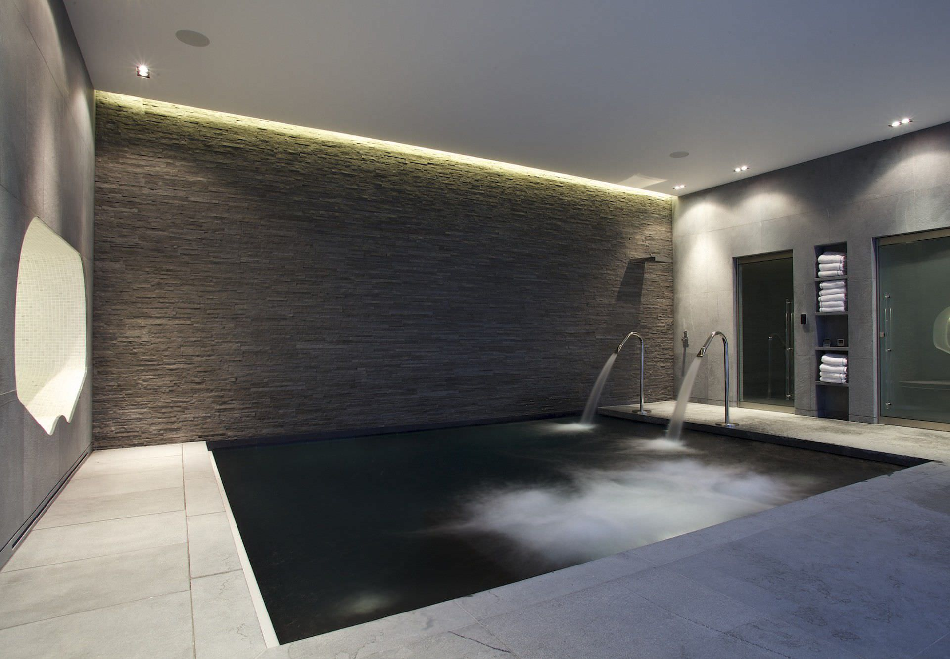 In-ground swimming pool / concrete / indoor - LONDON - GUNCAST ...