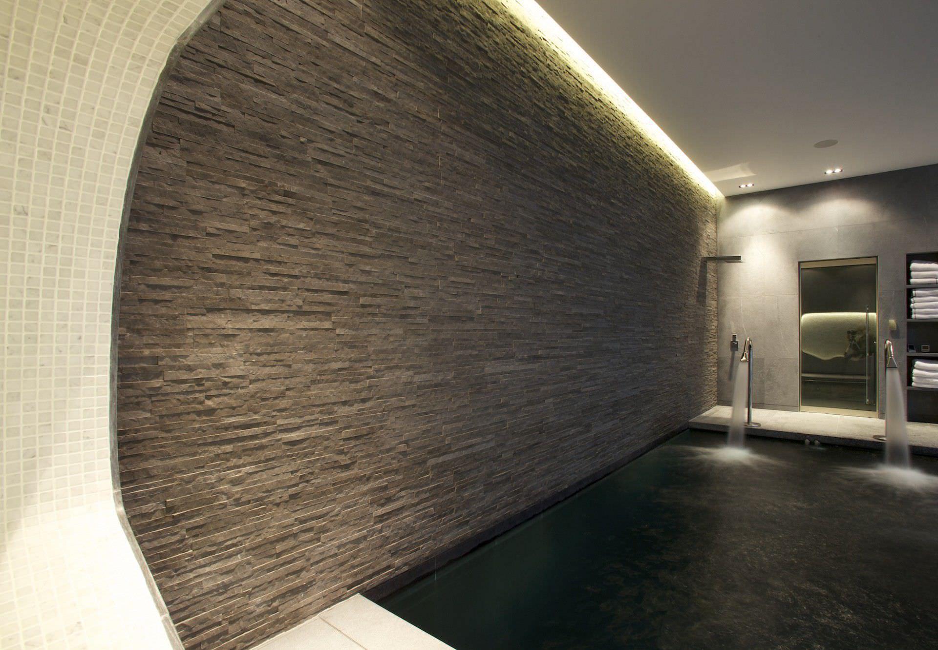 In ground swimming pool concrete indoor LONDON GUNCAST