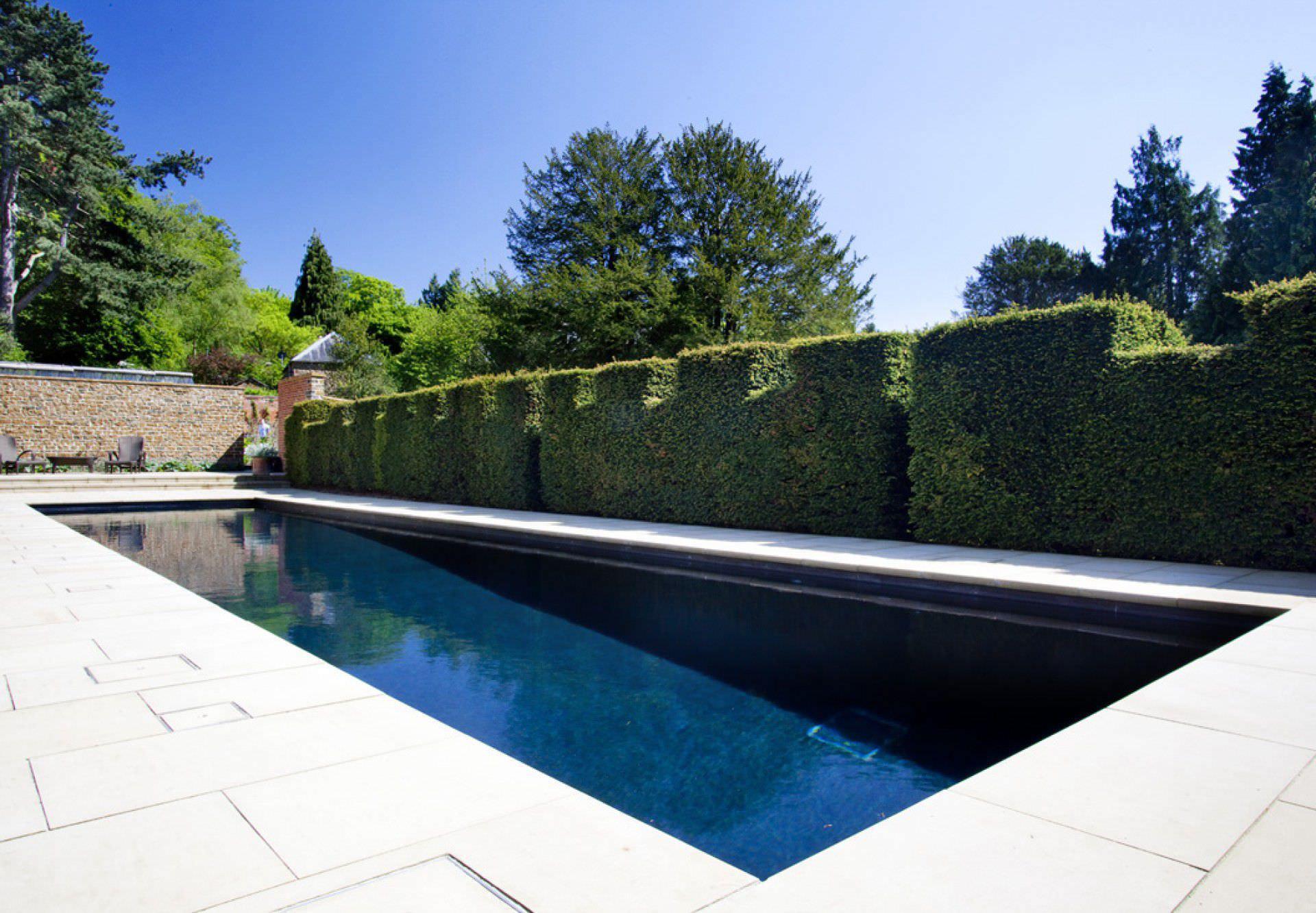 In ground swimming pool stone outdoor LUXURY GUNCAST