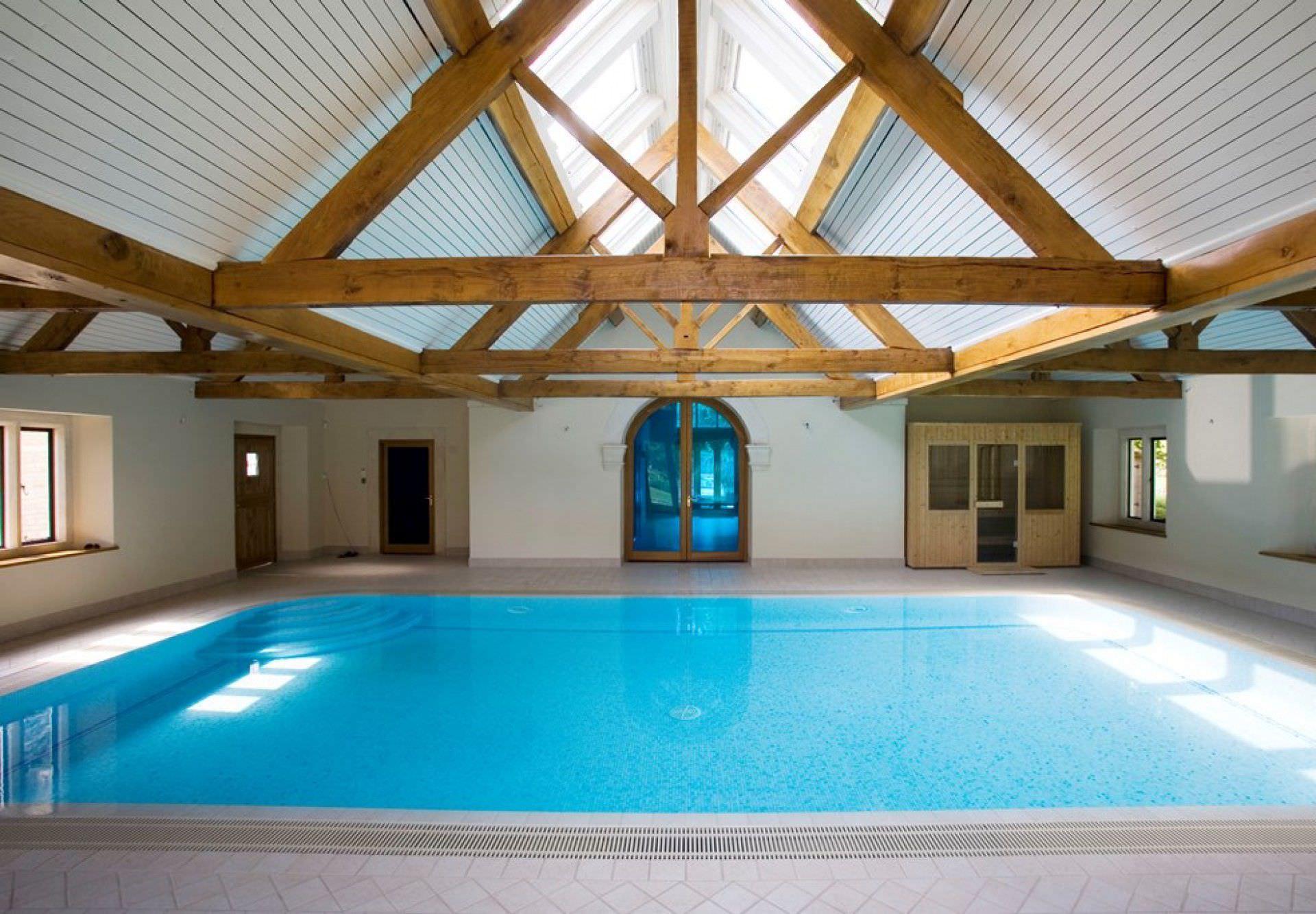 Public Swimming Pool Design In Ground Swimming Pool Stone Mosaic Indoor Hampshire