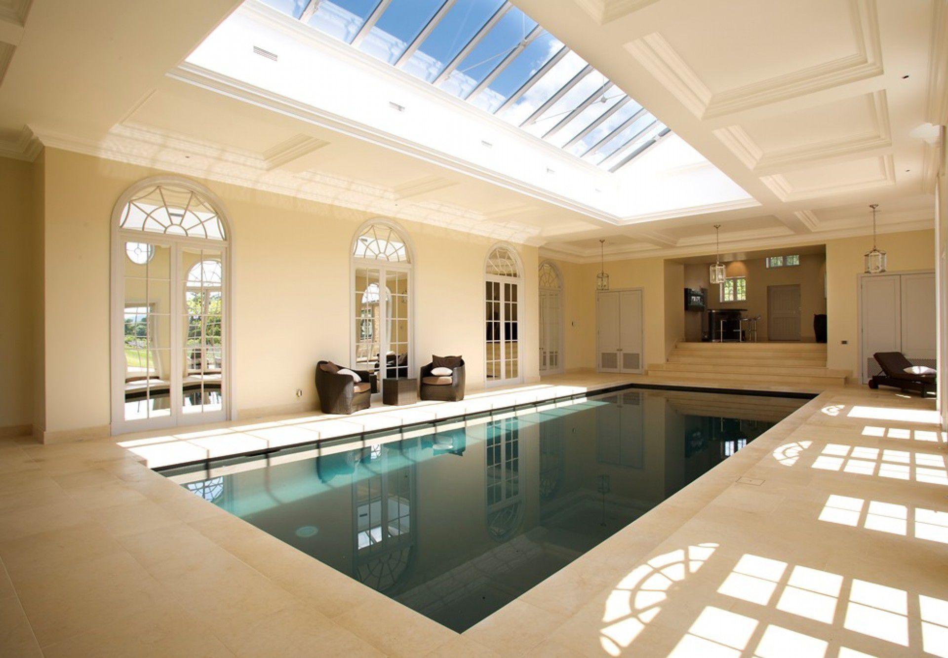 In-ground swimming pool / concrete / mosaic / indoor - SUSSEX ...