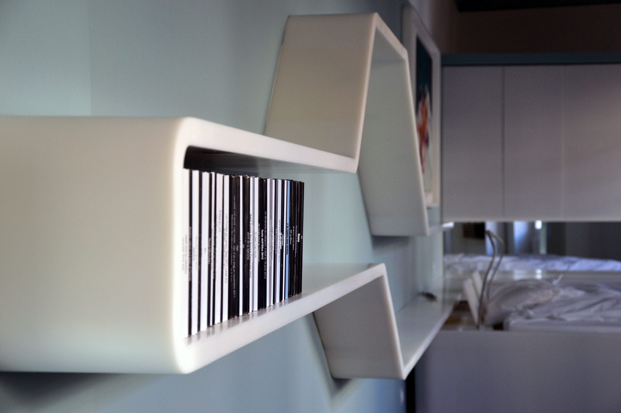 Indirect Wall Lighting wall-mounted shelf / contemporary / solid surface / with indirect