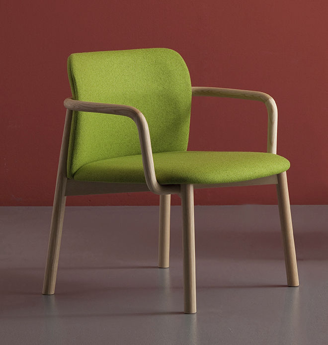 Contemporary chair  ash  fabric  leather - VUELTA by