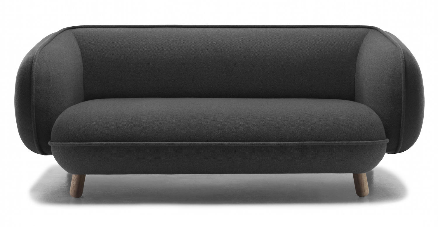 Contemporary sofa / fabric / 2-seater / 3-seater - BASSET by Iskos ...