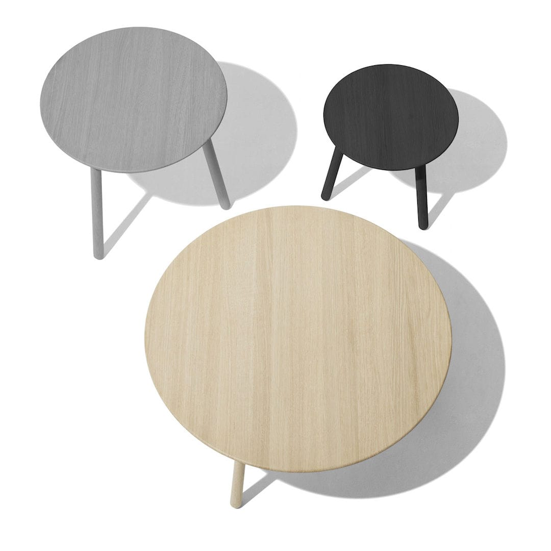 Contemporary Coffee Table / Oak / Ash / Round   KNOCK ON WOOD By Peter  Barreth