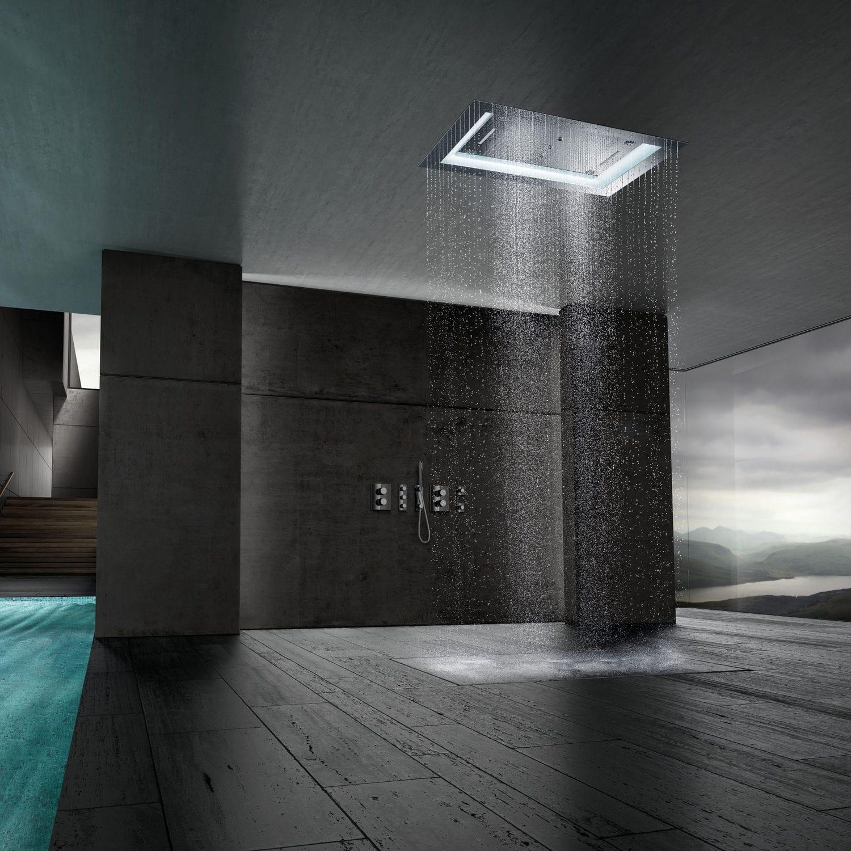 recessed ceiling rain shower head. Recessed ceiling shower head rectangular rain with built in light  AQUASYMPHONY RAINSHOWER Built In Rain Shower Head square