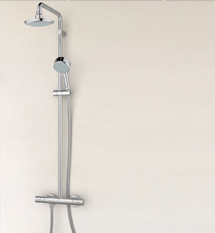 Wall Mounted Shower Set / Contemporary / Thermostatic   TEMPESTA: 27922 000