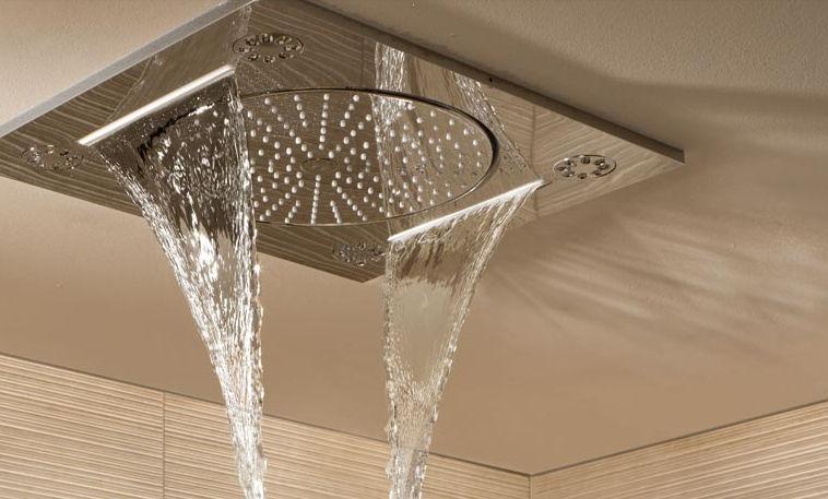recessed ceiling shower head rectangular rainshower fseries 001