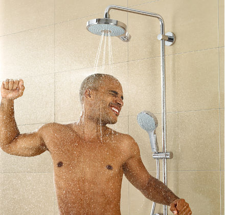 ... Wall Mounted Shower Set / Contemporary / With Fixed Column Shower Head  POWERu0026SOUL® ...