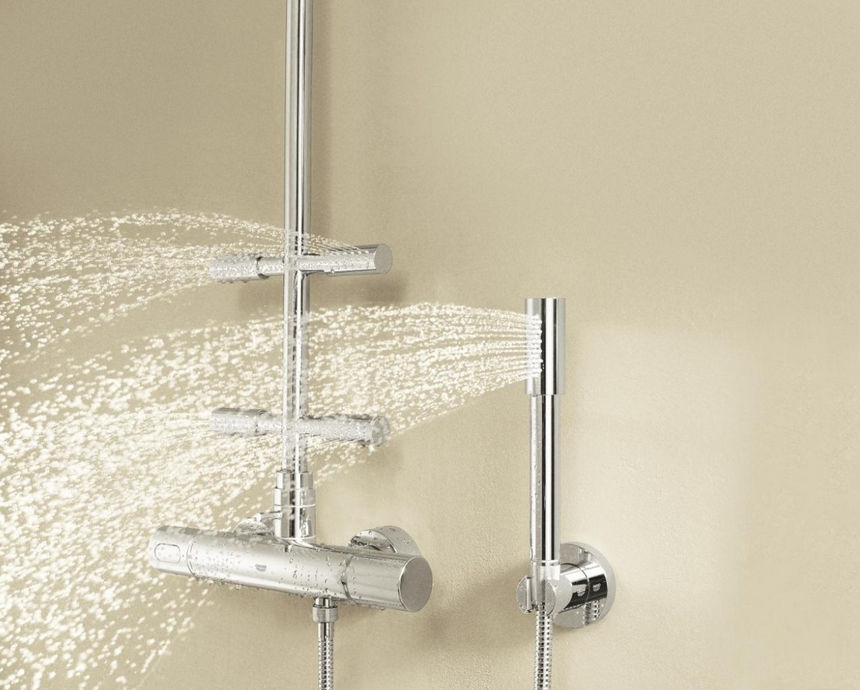 ... Wall Mounted Shower Set / Contemporary / Thermostatic RAINSHOWER: 27374  000 GROHE ...