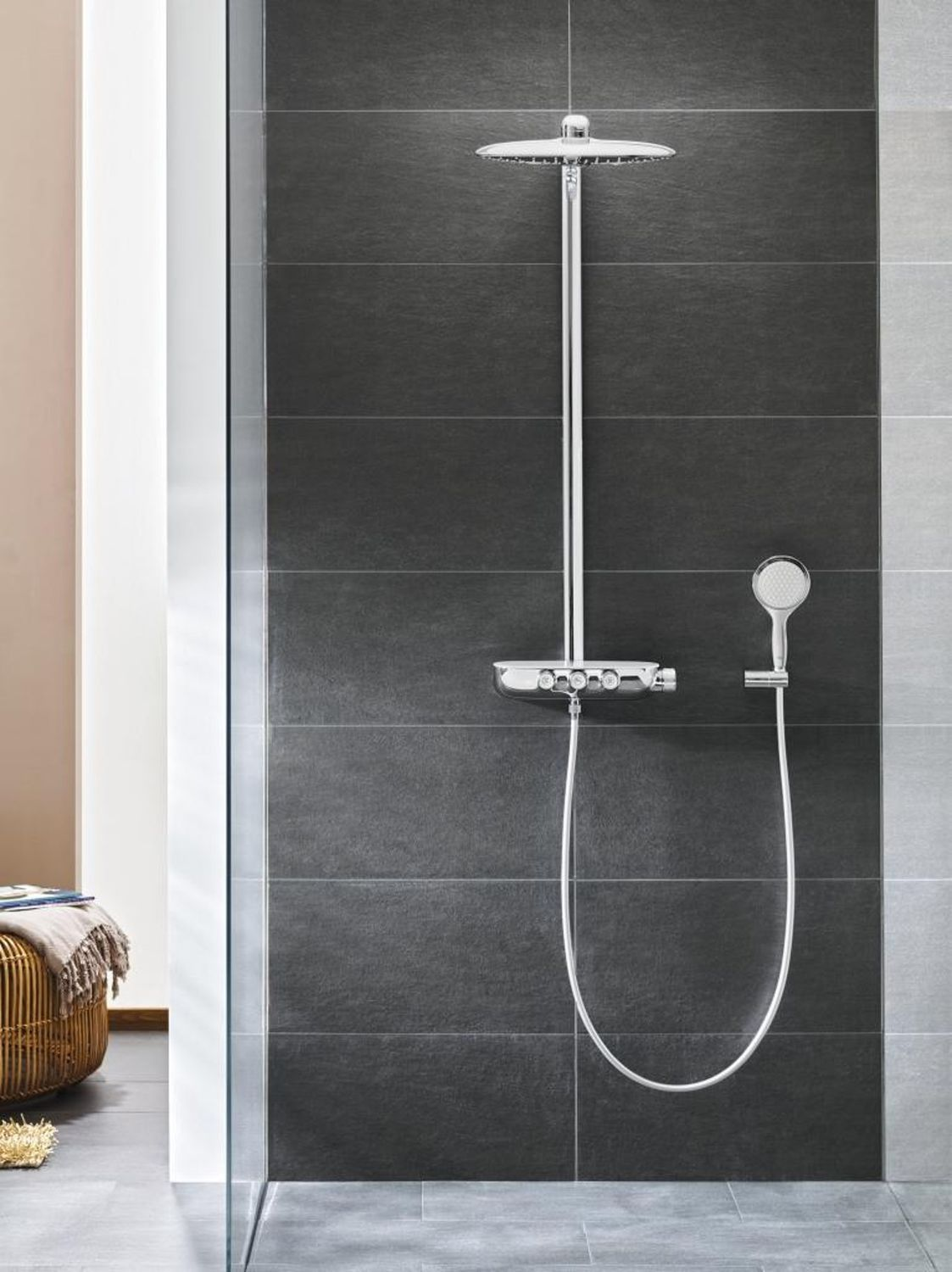 Wall Mounted Shower Set / Contemporary / Rain / With Hand Shower Rainshower  SmartControl GROHE ...