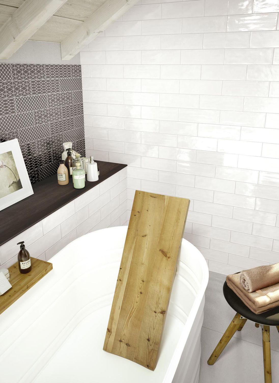Bathroom tile / kitchen / wall / ceramic - BRICK GLOSSY - Ragno
