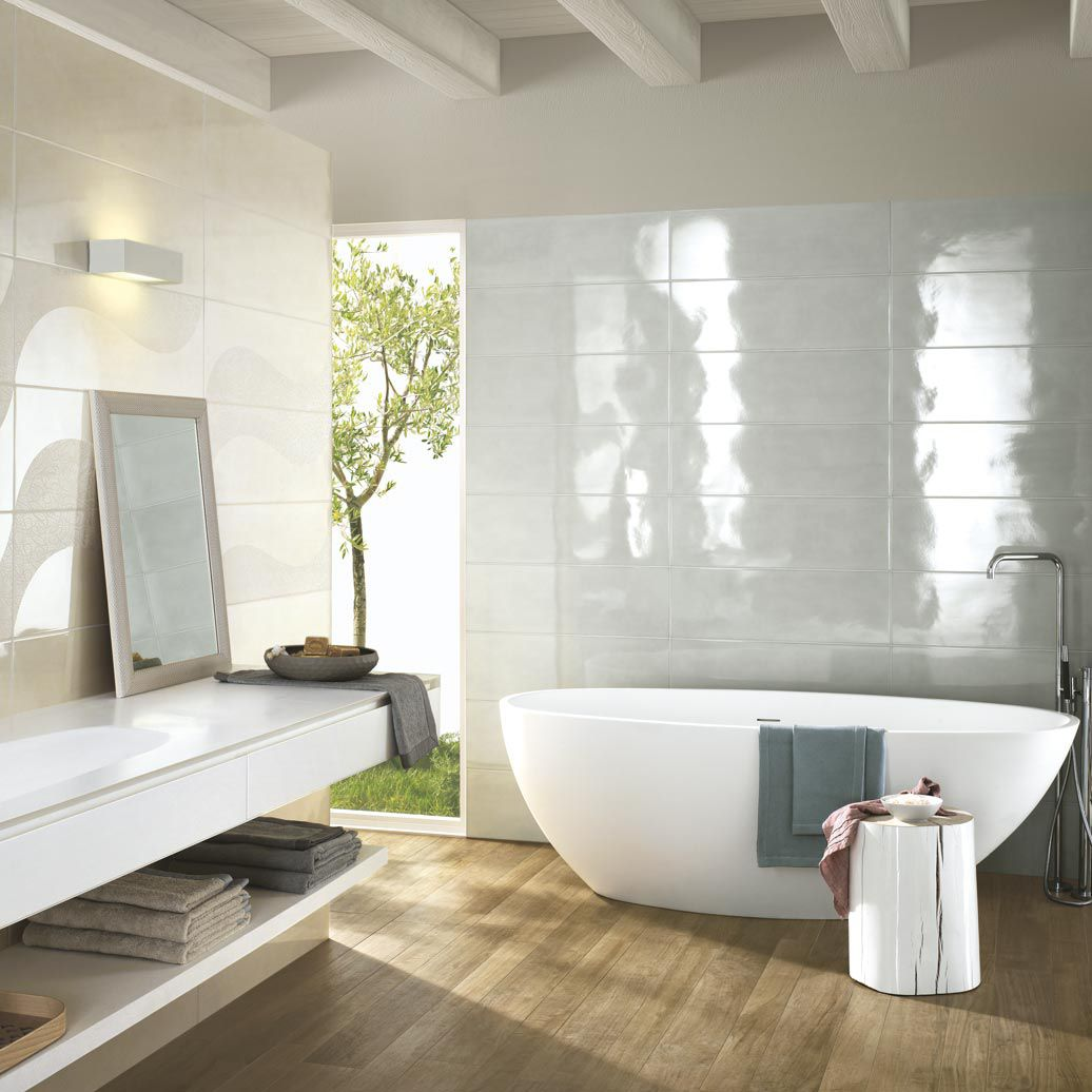 Bathroom tile / wall / ceramic / high-gloss - HANDMADE - Ragno - Videos