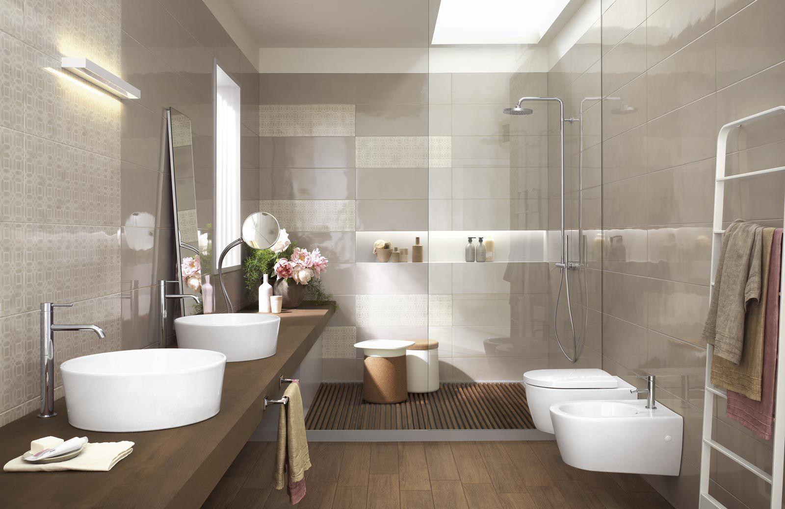 Bathroom tile / wall / ceramic / high-gloss - HANDMADE - Ragno - Videos